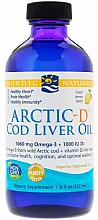 Perfumería y cosmética Complemento alimenticio aceite de hígado de bacalao sabor limón, 1060 mg - Nordic Naturals Arctic-D Cod Liver Oil