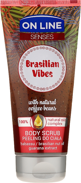 Exfoliante corporal con granos de café & aceite de babasú - On Line Senses Body Scrub Brasilian Vibes