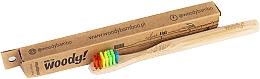 Perfumería y cosmética Cepillo dental infantil de bambú, dureza suave, multicolor - WoodyBamboo Bamboo Toothbrush Kids Soft/Medium Colour