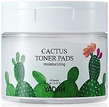 Perfumería y cosmética Parches faciales exfoliantes e hidratantes con extracto de cactus - Yadah Cactus Moisturizing Toner Pads