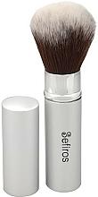 Perfumería y cosmética Brocha para polvos - Sefiros Silver Retractable Brush
