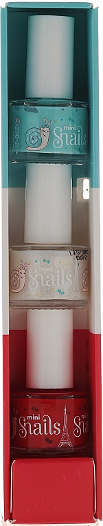 Set esmalte de uñas infantil, lavable y no tóxico - Snails Mini Paris (3uds.x7ml) — imagen N2
