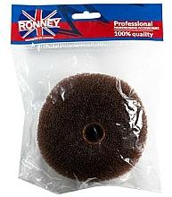 Perfumería y cosmética Esponja de moño marrón 11x4.5 cm - Ronney Professional Hair Bun 050