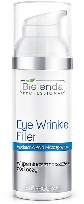 Rellenador de arrugas para contorno de ojos con ácido hialurónico - Bielenda Professional Program Eye Wrinkle Filler