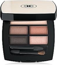 Perfumería y cosmética Paleta de sombras de ojos natural con aplicador y espejo - Chanel Les Beiges Healthy Glow Natural Eyeshadow Palette
