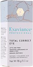 Perfumería y cosmética Crema correctora para contorno de ojos con péptidos, ácido hialurónico y cafeína - Exuviance Professional Total Correct Eye