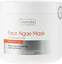 Perfumería y cosmética Mascarilla facial con arcilla ghassoul de Marruecos y extracto de algas pardas - Bielenda Professional Algae Face Mask