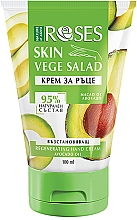 Perfumería y cosmética Crema de manos reparadora con aceite de aguacate - Nature of Agiva Roses Vege Salad Regeneration Hand Cream