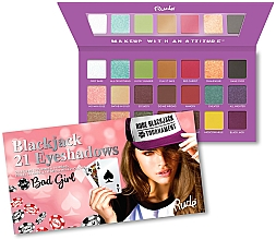 Perfumería y cosmética Paleta de sombras de ojos - Rude Blackjack Eyeshadow Palette