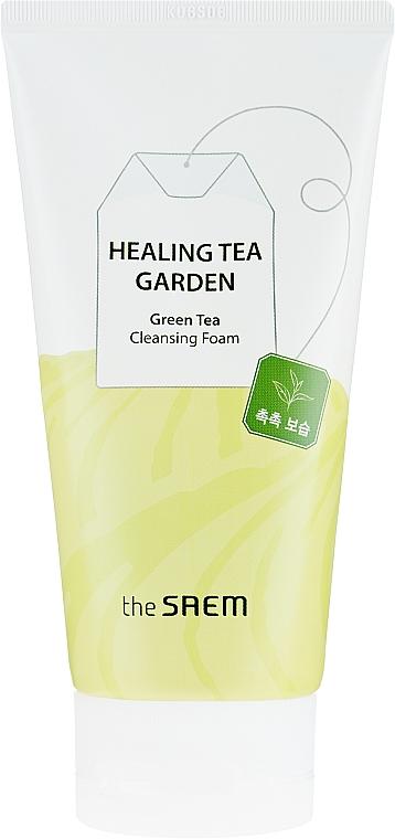 Espuma limpiadora facial con extracto de té verde - The Saem Healing Tea Garden Green Tea Cleansing Foam