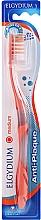 Perfumería y cosmética Cepillo dental de dureza media, naranja - Elgydium Anti-Plaque Medium Toothbrush