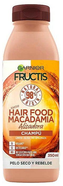 Champú natural alisador con aceite de macadamia - Garnier Fructis Hair Food Macadamia Smoothing Shampoo