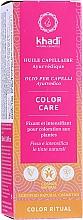 Perfumería y cosmética Aceite ayurvédico natural protector del color - Khadi Ayurvedic Color Care Hair Oil