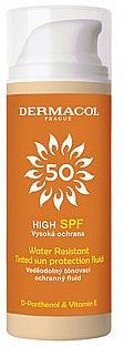 Fluido solar con color resistente al agua SPF50 - Dermacol Sun Tinted Water Resistant Fluid SPF50