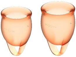 Perfumería y cosmética Copas menstruales, naranja, 2uds. - Satisfyer Feel Confident Menstrual Cups Orange