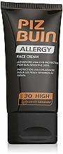 Perfumería y cosmética Crema protectora solar facial para pieles sensibles, SPF 30 - Piz Buin Allergy Face Cream SPF30