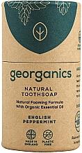 Perfumería y cosmética Jabón dental natural con aceite esencial de menta orgánica - Georganics Tooth Soap Stick English Peppermint