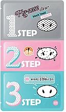 Perfumería y cosmética Limpieza de poros en 3 pasos con arcilla rosa & arcilla de caolín - Holika Holika.Pignose Clear Black Head 3 Step Kit