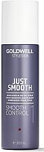 Perfumería y cosmética Spray para cabellos rebeldes con protección contra el calor y el color - Goldwell Style Sign Just Smooth Control Blow Dry Spray