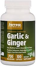 Perfumería y cosmética Complemento alimenticio en cápsulas de ajo y jengibre, 700 mg, 100 cáp. - Jarrow Formulas Garlic & Ginger