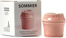 Perfumería y cosmética Soporte para cepillo dental de porcelana, rojo - NaturBrush Sommier Toothbrush Holder