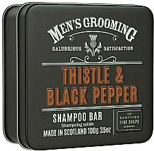 Perfumería y cosmética Champú sólido para hombre con aceite de cáñamo, aroma a cardo y pimienta negra - Scottish Fine Soaps Mens Grooming Thistle & Black Pepper Shampoo Bar