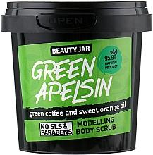 Perfumería y cosmética Exfoliante corporal modelador con café verde y aceite de naranja dulce - Beauty Jar Modelling Body Scrub