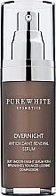 Perfumería y cosmética Sérum antioxidante de noche con aceite de grosella negra - Pure White Cosmetics Overnight Antioxidant Renewal Serum