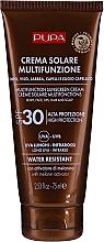 Perfumería y cosmética Crema de protección solar para rostro, labios, cuerpo y cabello con activador de melanina, SPF 30 - Pupa Multifunction Sunscreen Cream