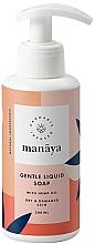 Perfumería y cosmética Jabón natural líquido con aceite de cáñamo para pieles secas y dañadas - Manaya Gentle Liquid Soap With Hemp Oil