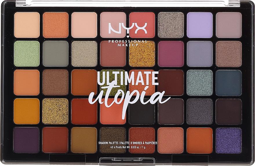 Paleta de sombras de ojos, 40 colores - NYX Ultimate Utopia Shadow Palette Summer 2020