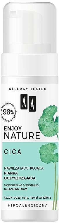 Espuma facial limpiadora calmante e hidratante, hipoalergénica - AA Enjoy Nature Cica Moisturising&Soothing Cleansing Foam