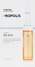 Perfumería y cosmética Mascarilla facial de tejido con propóleo en ampolla - Missha Nutrition Solution Sheet Mask