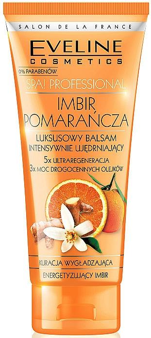 Bálsamo corporal de fortalecimiento con extracto de jengibre y naranja - Eveline Cosmetics Spa Prof