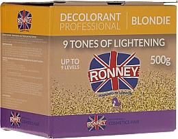 Perfumería y cosmética Polvo decolorante profesional hasta 9 tonos, rubio - Ronney Decolorant Professional Blondie