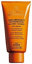 Perfumería y cosmética Crema bronceadora para rostro y cuerpo resistente al agua - Collistar Ultra Protection Tanning Cream face and body SPF 30