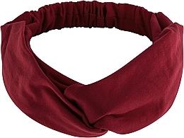 """Perfumería y cosmética Cinta de pelo, de tela, borgoña """"Knit Twist"""" - MakeUp Hair Accessories"""