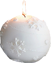 Perfumería y cosmética Vela decorativa, bola, blanca, 12 cm - Artman Snowflake Application