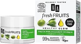 Perfumería y cosmética Pasta facial exfoliante con aceite de oliva - AA Fresh Fruits Healthy Glow