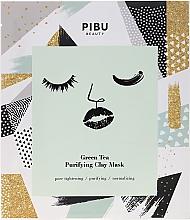 Perfumería y cosmética Mascarilla facial con té verde y arcilla - Pibu Beauty Green Tea Purifying Clay Mask