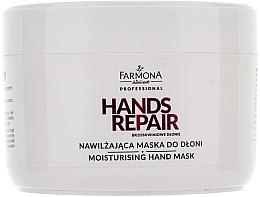 Perfumería y cosmética Mascarilla de manos con extracto de miel y proteína de seda - Farmona Farmona Brzoskwiniowe Dlonie
