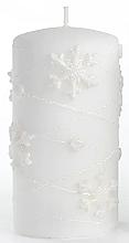 Perfumería y cosmética Vela decorativa, blanca, 7x18cm - Artman Snowflake Application