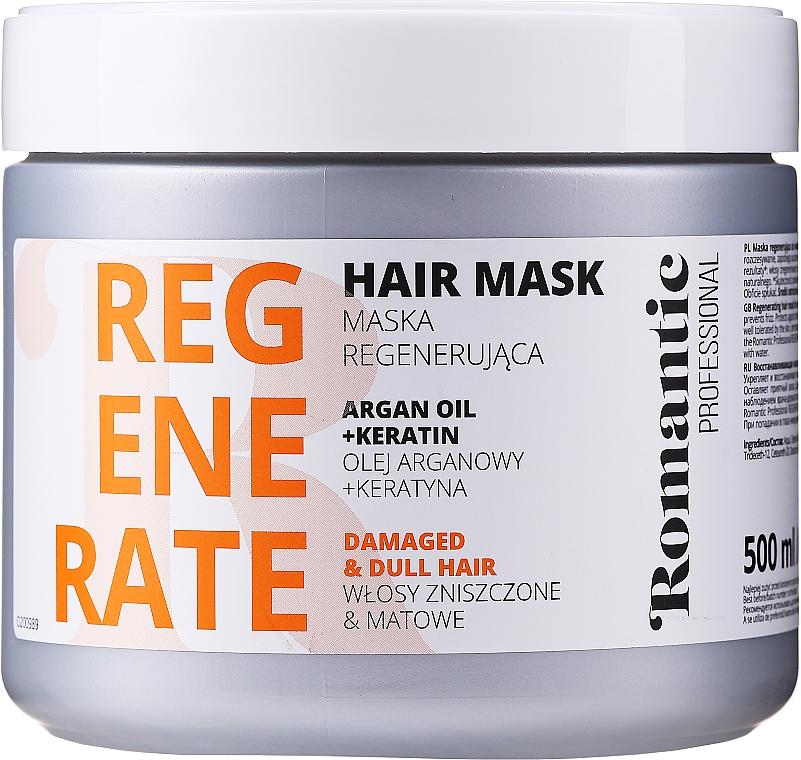 Mascarilla capilar regeneradora con aceite de argán y queratina - Romantic Professional Helps to Regenerate Hair Mask
