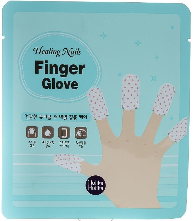 Mascarilla dedal para uñas y cutículas con aceite de argán y extracto de melisa - Holika Holika Healing Nails Finger Glove