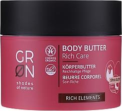 Perfumería y cosmética Manteca corporal con aceites de macadamia y coco - GRN Rich Elements Shea Body Butter