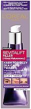 Perfumería y cosmética Crema para rostro y contorno de ojos con ácido hialurónico - L'Oreal Paris Revitalift Filler Eye Cream For Face
