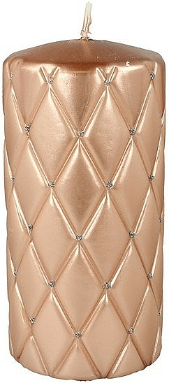 Vela decorativa 7x14 cm, oro rosa - Artman Florence Candle