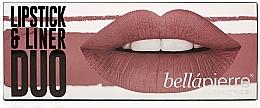 Perfumería y cosmética Set labial - Bellapierre Lipstick & Liner Duo (lápiz para contorno/1.5 g + barra labial mate/3.5g) (Antique Pink)