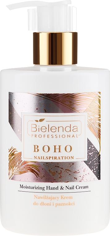 Crema hidratante para manos y uñas con manteca de karité & vitamina E - Bielenda Professional Nailspiration Boho Moisturising Hand & Nail Cream
