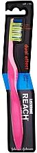 Perfumería y cosmética Cepillo de dientes suave, rosa - Listerine Reach Dual Effect Soft